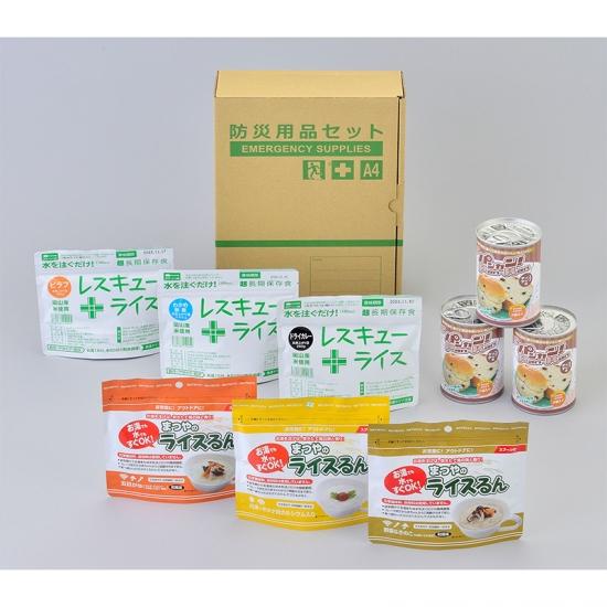 災害時向け A4ボックス食料備蓄3日間セット BLS-02 国産品 12個セット販売 【代引き不可商品】