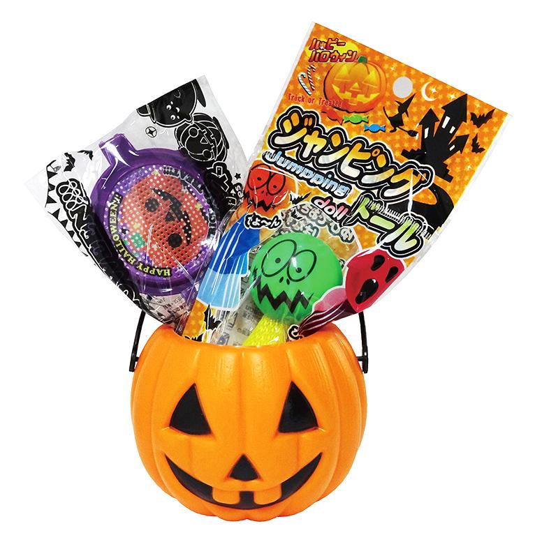 【ハロウィン おもちゃ景品 まとめ売り】  ハロウィン ハロウィンおもちゃバケツ OB35 120個セット販売 ハロウィンおもちゃがかぼちゃバケツに入ったおもちゃのセット