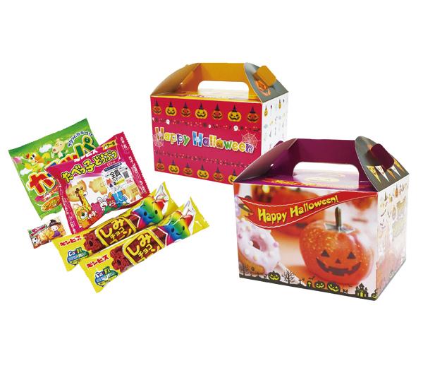 ハロウィン お菓子景品 ハロウィンお菓子ボックス 48個セット販売【代引き不可商品】