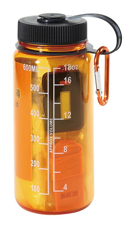 防災ボトル7点セット ウォーターボトルに役立つ防災グッズを詰め込んだコンパクト防災グッズ 【名入可能商品】 50個セット販売