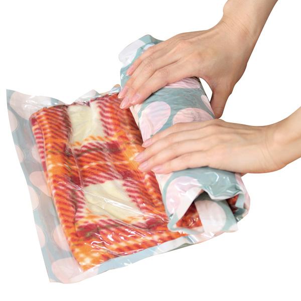 衣類圧縮袋(大小セット) 100個セット販売 旅行の必需品!中の衣類が透けにくく安心です 120個セット販売