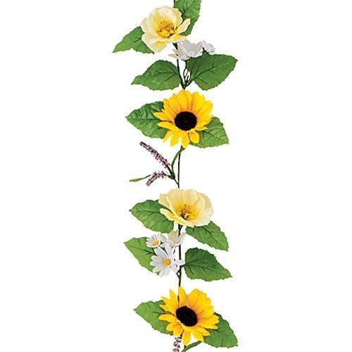 ひまわり 夏の装飾 ディスプレイ ヒマワリミックスガーランド 6本セット販売