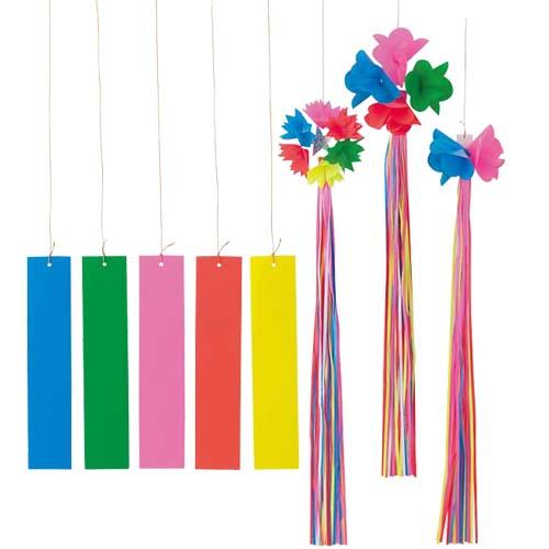 七夕 装飾 七夕笹飾り(1) 七夕ディスプレイ笹を飾る装飾のセット 6個セット販売
