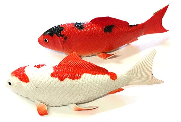お祭り 縁日 ディスプレイ アウトレットセール 特集 鯉 フィギュア 23cm 6個セット販売 カラー 装飾品 商舗 ホワイト ニシキゴイ 魚 2色からお選びください オレンジ