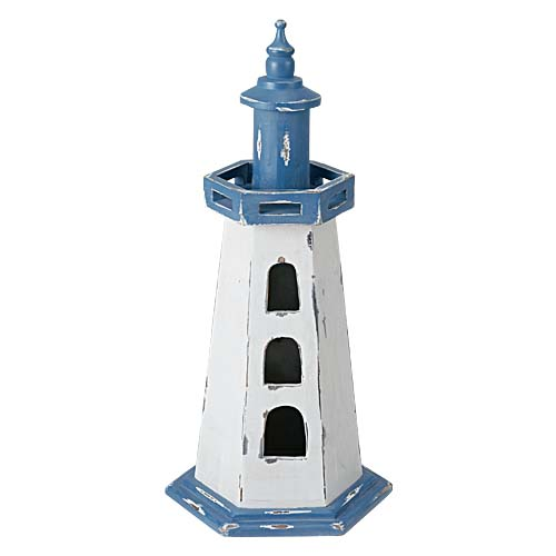 マリン装飾 灯台 ウッド製雑貨 オブジェ 65cmオールドウッドライトハウス 【代引き不可商品】
