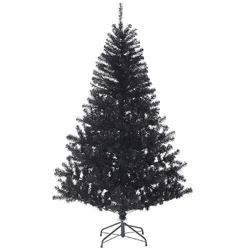 クリスマスツリー ブラック180cm 防炎180cmブラックノーブルパインワイドツリー(ヒンジ方式) ※代引不可商品