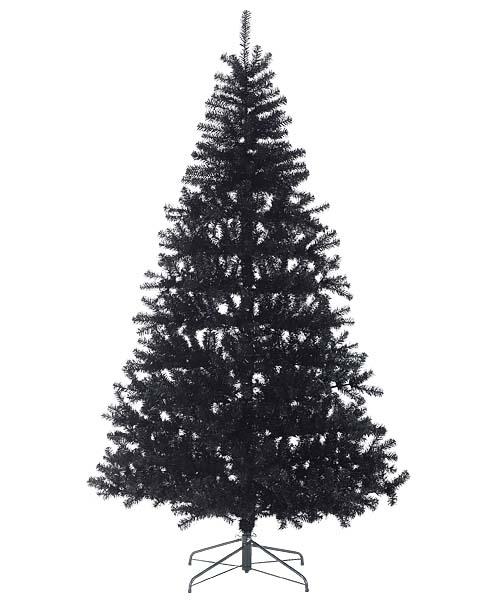 クリスマスツリー ブラック240cm 防炎240cmブラックノーブルパインワイドツリー(ヒンジ方式) ※代引不可商品