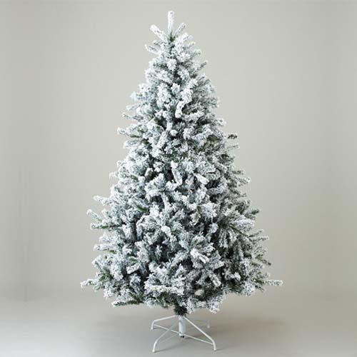 クリスマスツリー 雪バージョン210cm 防炎210cmニュースノーパインツリーx1070 ※代引不可商品