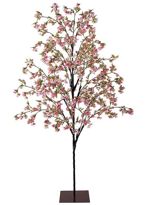 桜の木 ディスプレイ 造花 210cm 八重桜 ヤエザクラツリー(スタンド付き) 【代引き不可商品】