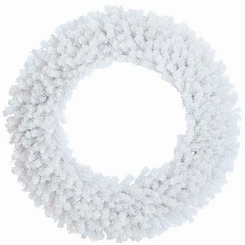 クリスマス 装飾 クリスマスリース ホワイトカラー 防炎150cmピュアホワイトノーブルリッチリースx680 【き商品】
