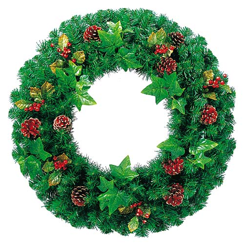 クリスマス 装飾 ディスプレイ 60cmナチュラルパインコーンリース 完全送料無料 店舗装飾 リース セットアップ
