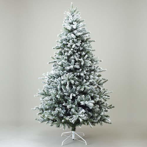 クリスマスツリー 雪バージョン 防炎240cmニュースノーパインツリーx1560【代引き不可商品】