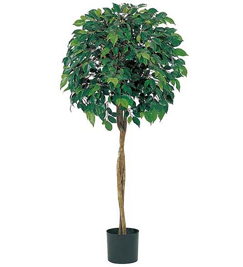 観葉植物 造花 120cmフィカスツリー(ナチュラルトランク)【代引き不可商品】※ポットは別売り