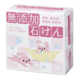 無添加石けん (HYA-SMU) 香料・着色料・防腐剤が無添加の石けん お肌の方にもお使い頂けます(植物性石鹸素地100%) 日本製 100個セット販売