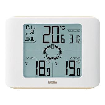 タニタ コンディションセンサー(無線温湿度計) (TC-400-IV) 各部屋の温度差をイラストで分かりやすくお知らせ