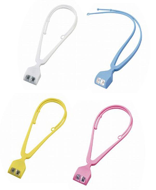 手ぶライト (LT001) 夜の散歩やアウトドアにも便利。首にかければ両手が自由に使えます 30個セット販売