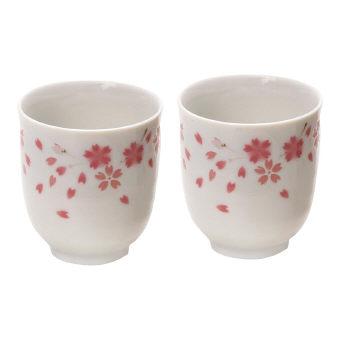 神宮桜 ペア湯呑 (JS-006) 桜のイラスト湯のみ 30個セット販売 日本製