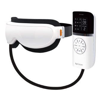エアーマスク (KRX-4000/W) 心地よい「エア、温め、振動」機能で、こめかみや目元をケア。最大約500曲のMP3ファイルを取り込みできます