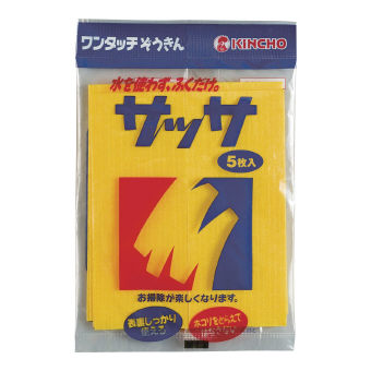 金鳥 サッサ5P テーブルふきん 水を使わずふくだけ 5枚入り 100個セット販売 日本製
