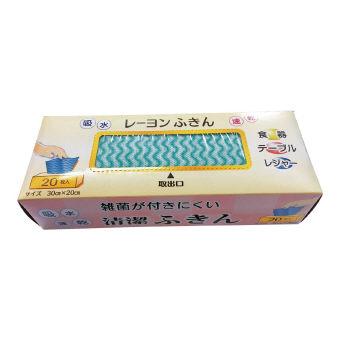 お手軽レーヨン布巾20枚入 (DF-20) 100個セット販売 日本製