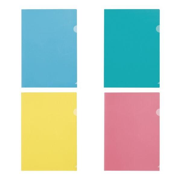 学校 塾 格安 景品 ファイル 信託 まとめ売り A4クリアホルダー カラー4色からお選びください クリアファイルA4サイズ 文房具 販促品 100枚セット販売 粗品