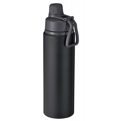 上品 バッグの中での漏れを防ぐ安心のロック機能付きキャップ 直飲みアルミボトル800ml ブラック たっぷり800mlの大容量 気軽に飲める直飲みタイプ 36本セット販売 爆買い送料無料
