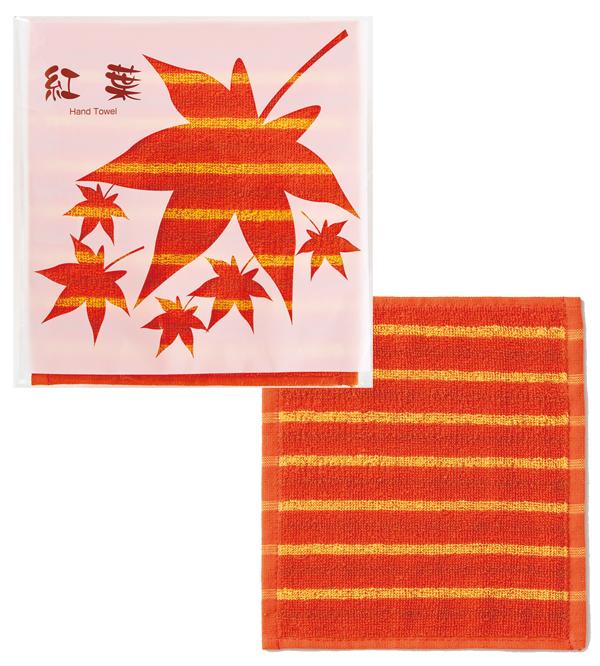 紅葉コレクション 紅葉柄景品 粗品 もみじハンドタオル 200枚セット販売