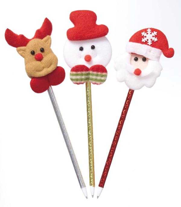 クリスマスノベルティ 景品 クリスマスマスコットボールペン 180本セット販売 クリスマス プレゼント X'mas ノベルティグッズ