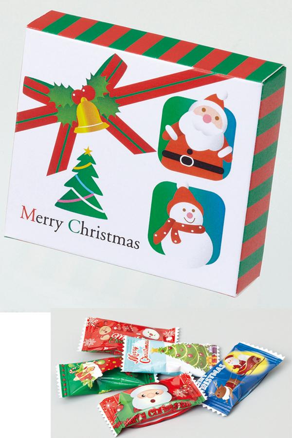 クリスマスノベルティ 景品 お菓子 クリスマスリボン(キャンディ5粒入り) 200個セット販売 クリスマス プレゼント X'mas ノベルティグッズ