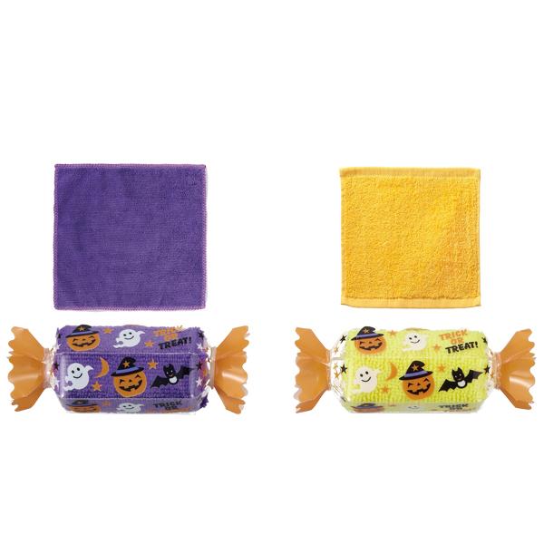 ハロウィン景品 ハロウィンキャンディタオル 100個セット販売 ハロウィン販促品 学校・子供会・介護施設用景品に人気の商品
