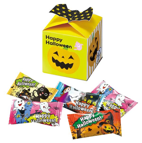 ハロウィン お菓子景品 ハロウィンギフトボックス(キャンディ5粒入り) 100個セット販売 【代引き不可商品】