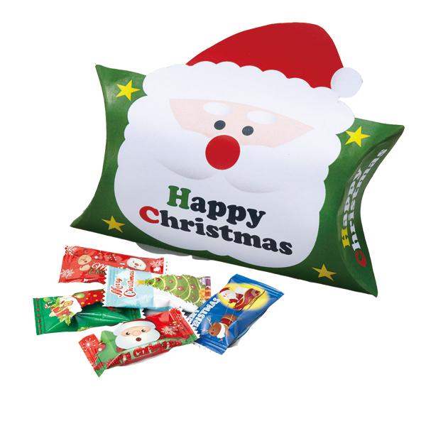 10月中旬頃入荷予定 クリスマス お菓子 景品 サンタキャンディピロケース(キャンディ5粒入り)100個セット販売 子供会・町内会・小売店用景品に最適