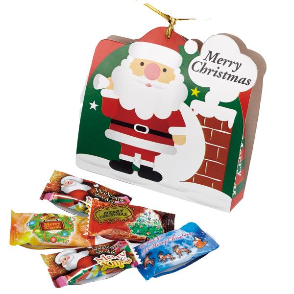 10月中旬頃入荷予定 クリスマス お菓子 景品 サンタキャンディ5粒入り100個セット販売 子供会・町内会・小売店用景品に最適