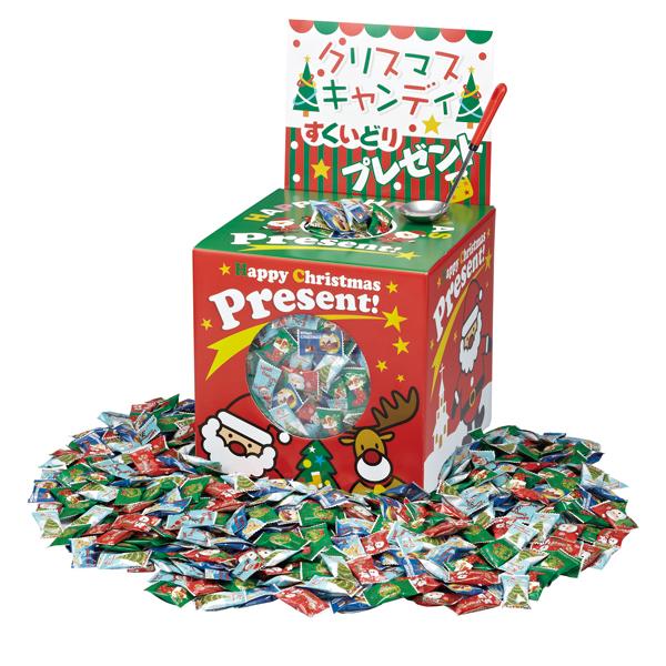10月上旬頃入荷予定 クリスマス お菓子すくいどり クリスマスキャンディすくいどりプレゼント 120人用 すくいどりスプーンですくった数だけもらえる