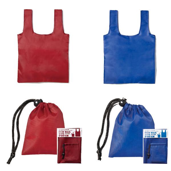 巾着付きエコバッグ エコバッグ・トートバッグ・お買い物バッグ 100個セット販売