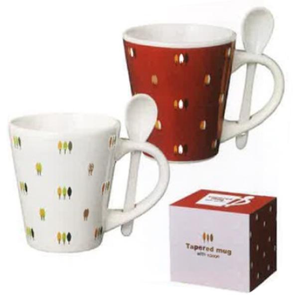 フラワー柄 スプーン付きマグカップ まとめ売り スプーン付き テーパーマグカップ 全品送料無料 景品 36個セット販売 安値 食器 粗品 カラフルな花柄が可愛いマグ
