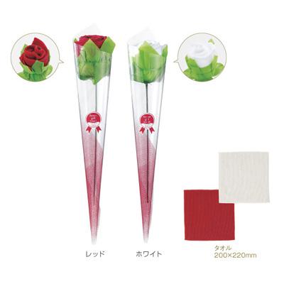 タオル 景品・粗品に最適 フラワーギフトタオル 144個セット販売 まとめ売り バラモチーフ