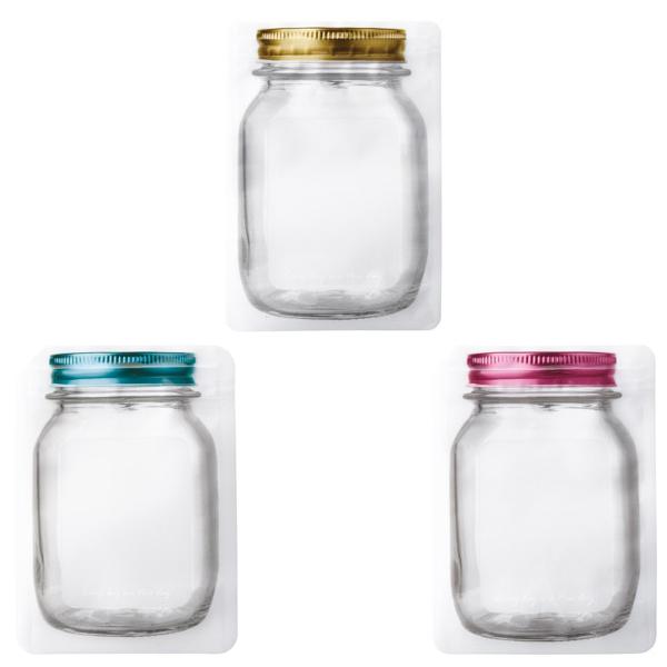 【ジッパーバッグ お土産袋 コーヒー袋に】  食品保存袋 ジッパー保存バッグ スタンディングジッパーバッグ3枚セット(サイズ違い大中小)400個セット販売