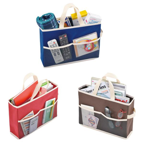 収納ケース 収納ボックス 収納ボックスバッグ 小物収納に便利なポケット付き 60個セット販売