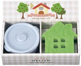 デリッシュ キッチン2点セット 保存容器&キッチンスポンジ ギフトセット 90個セット販売 飲食店・宿泊施設での景品に人気