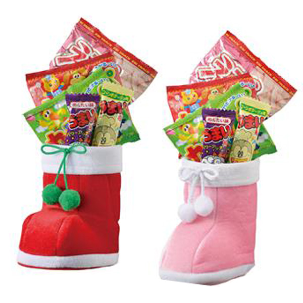クリスマス お菓子ブーツ 景品 クリスマス ふわふわブーツ 64個セット販売 子供会・町内会・小売店用景品に最適 【代引き不可商品】