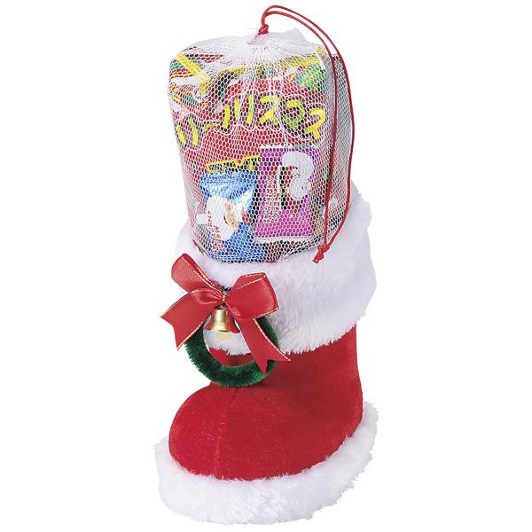 クリスマス お菓子ブーツ 景品 クリスマス レッドブーツ 36個セット販売 子供会・町内会・小売店用景品に最適 【代引き不可商品】