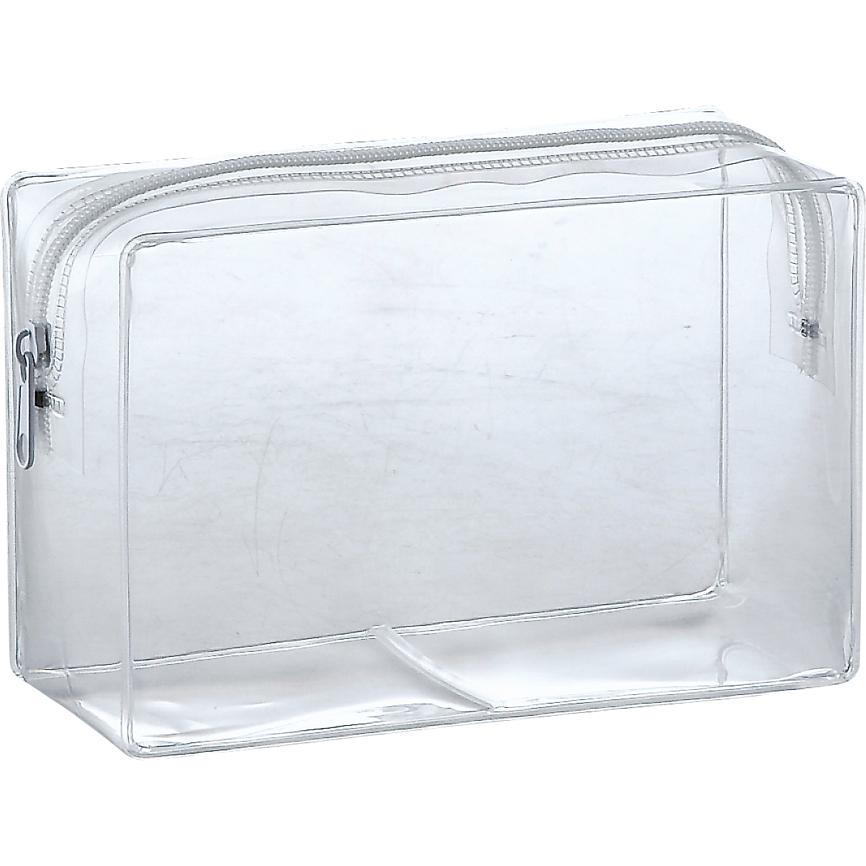 透明バッグ ECOクリア・スクエアポーチ 定番人気のスクエア型ポーチ 200個セット販売