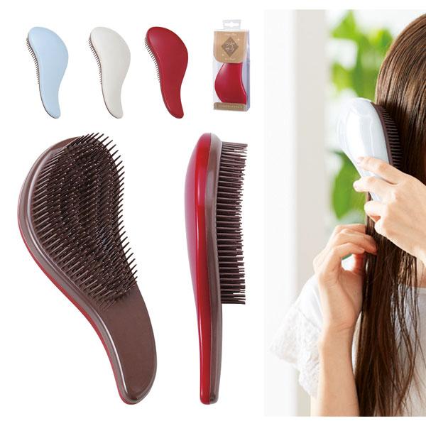 ツヤサラヘアブラシ お風呂で濡れ髪にも使える カーブフォルムブラシ 120個セット販売