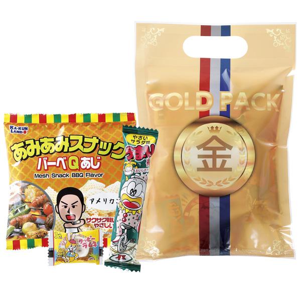 ゴールドお菓子パック 100個セット販売 金メダルのパッケージに入ったお菓子景品 運動会·スポーツ大会などでお子様が喜ぶご褒美お菓子