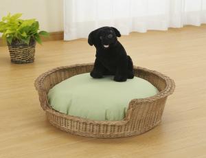 籐 ペット用ベッド 猫ちゃんや小型ワンちゃんのベッドにぴったり 夏は風通しもよく涼しく冬はラタンのぬくもりで温かく【代引不可・沖縄離島発送不可】