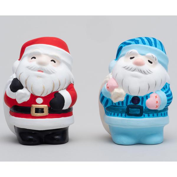 お絵かき サンタクロース(陶器)貯金箱 100個セット販売 クリスマスサンタ 陶器でお絵かき ワークショップ・絵付け体験用にも