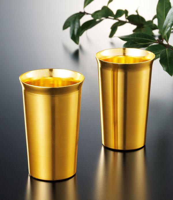 金色のペアタンブラーセット 60個セット販売 ギフト 縁起のいい金色 名入れ可能