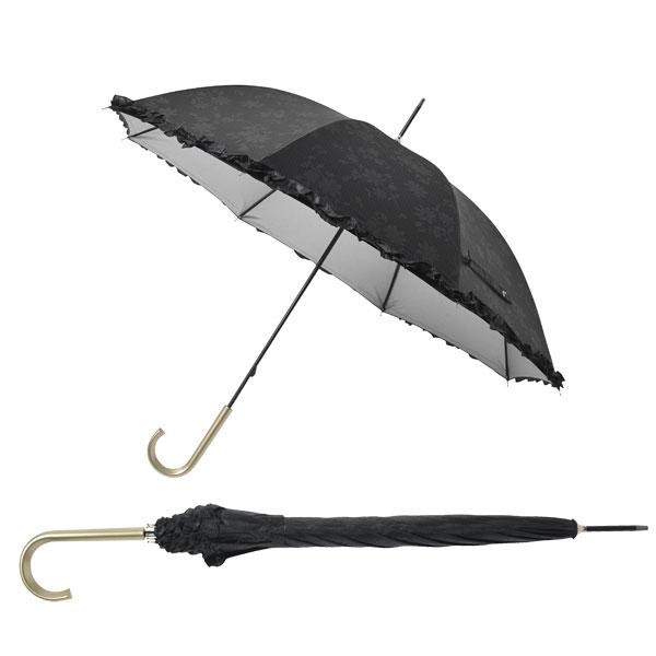 日傘 晴雨兼用 長傘 イボタニカルレース晴雨兼用長傘  60本セット販売