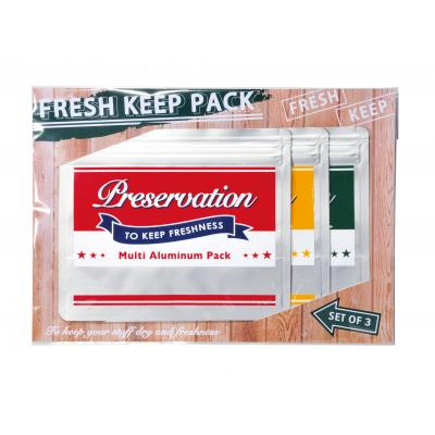 フレッシュキープパック3枚組  240個セット販売 食材の香りや風味を逃さないアルミ製のジッパーパック